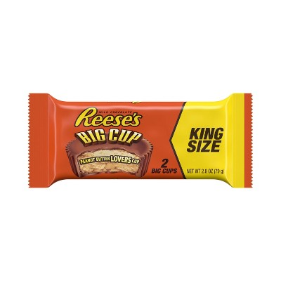 Reese's Peanut Butter Big Cup King Size Chocolate - 2.8oz