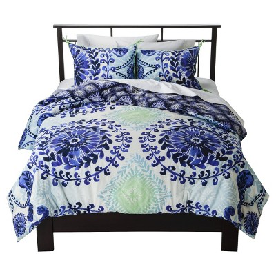 Blue Haze Reversible Comforter Set (King)3pc - Boho Boutique