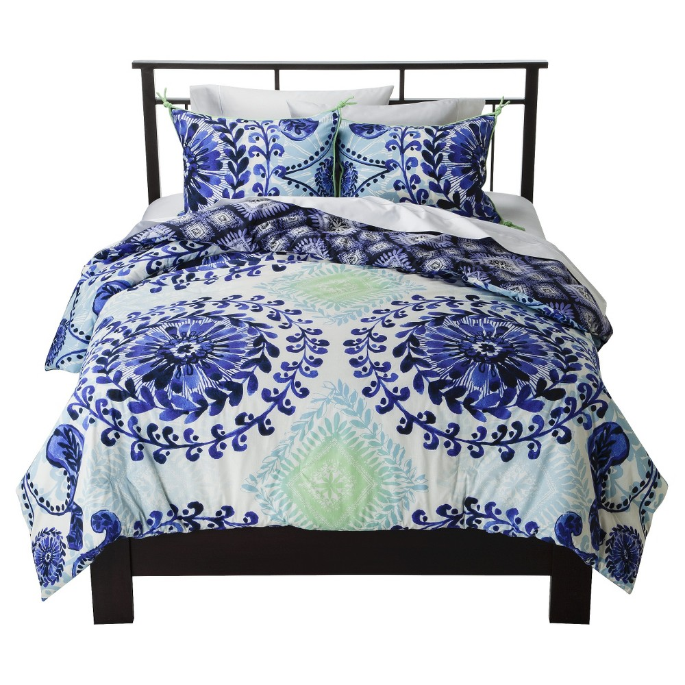 Blue Haze Reversible Comforter Set (Full/Queen) 3pc - Boho Boutique