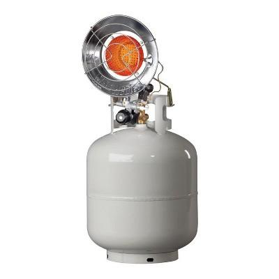 Mr. Heater Outdoor 15,000 BTU Portable Stainless Steel Propane Gas Single Tank Top Heater, Silver