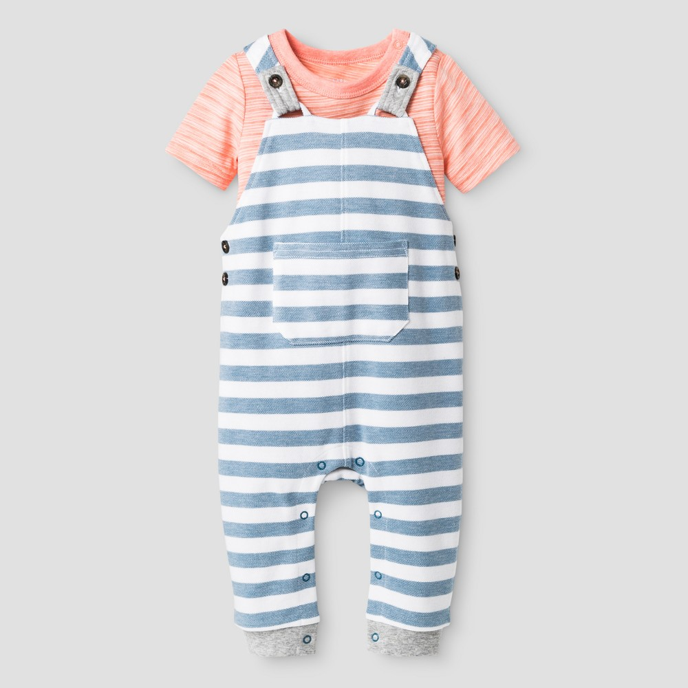 Baby Boys' 2pc Bodysuit and Overall Set - Cat & Jack Pink 24 Months, Size: 24M, Desert Flower
