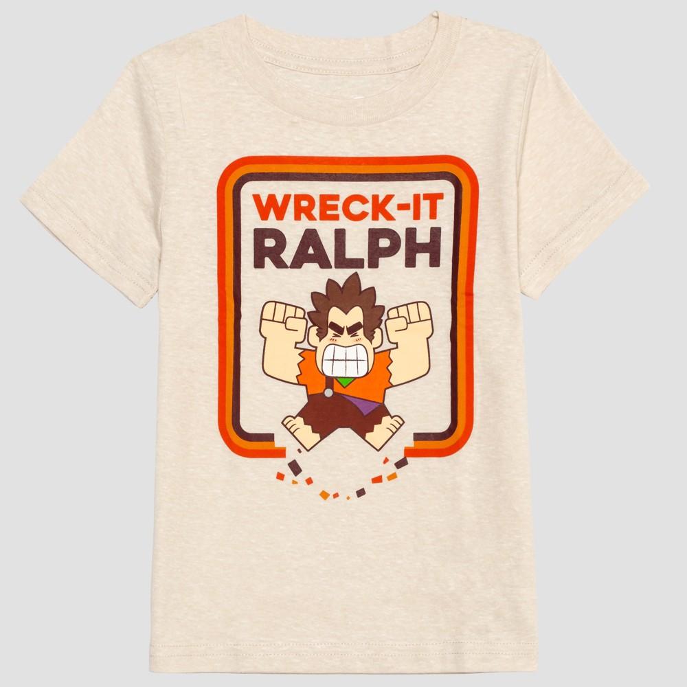 Toddler Boys' Wreck-It Ralph Short Sleeve T-Shirt - Beige 4T