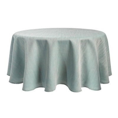 """70"""" Round Harper Tablecloth Blue - Town & Country Living"""