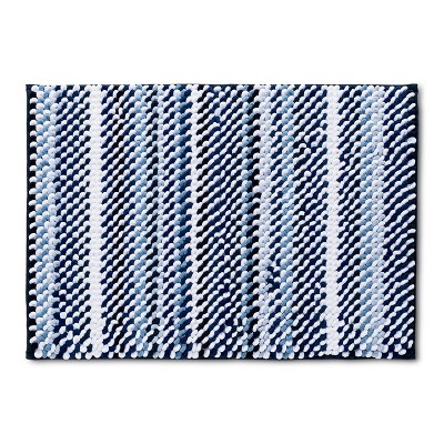 24  x 17  Loop Memory Foam Bath Rug Nighttime Blue - Room Essentials™