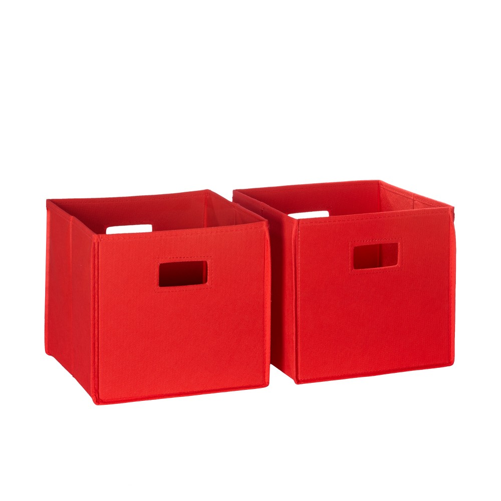Image of 2pc Folding Toy Storage Bin Set Red - RiverRidge