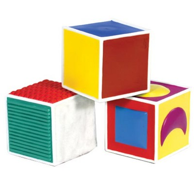 Kaplan Early Learning Infant and Toddler Soft Tactile Blocks - Set of 3