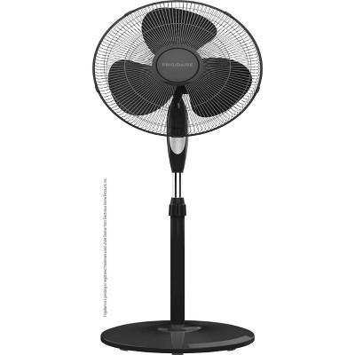 "Frigidaire 16"" Deluxe Pedestal Fan with Remote Control Black"