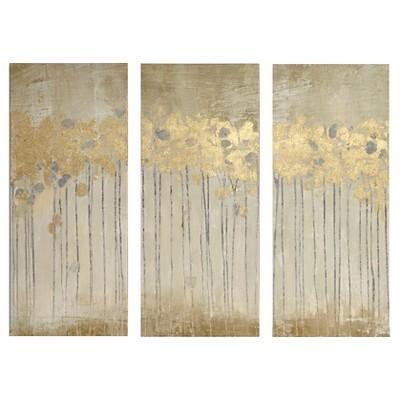 Sandy Forest Gel Coat Canvas with Gold Foil Embellishment 3 Piece Set