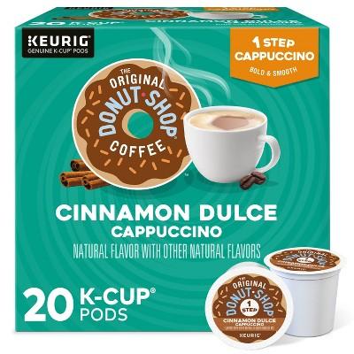 The Original Donut Shop Cappuccino Cinnamon Dulce Dark Roast Coffee - Single Serve Pods - 20ct