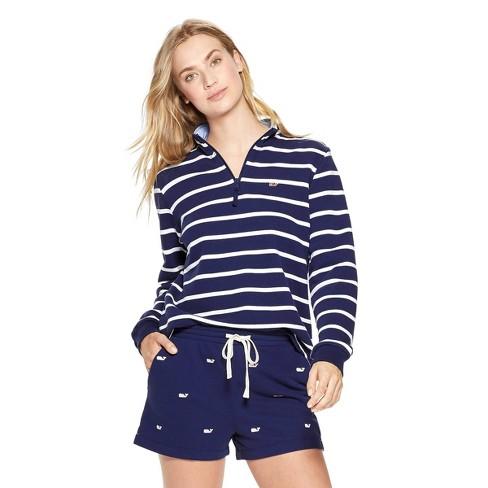 5534ee8078 Women's Striped 1/4 Zip Pullover - Navy - Vineyard Vines® For Target :  Target