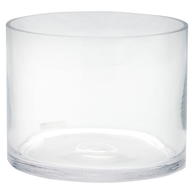 Diamond Star Glass Cylinder Vase Clear 6 x6 x8