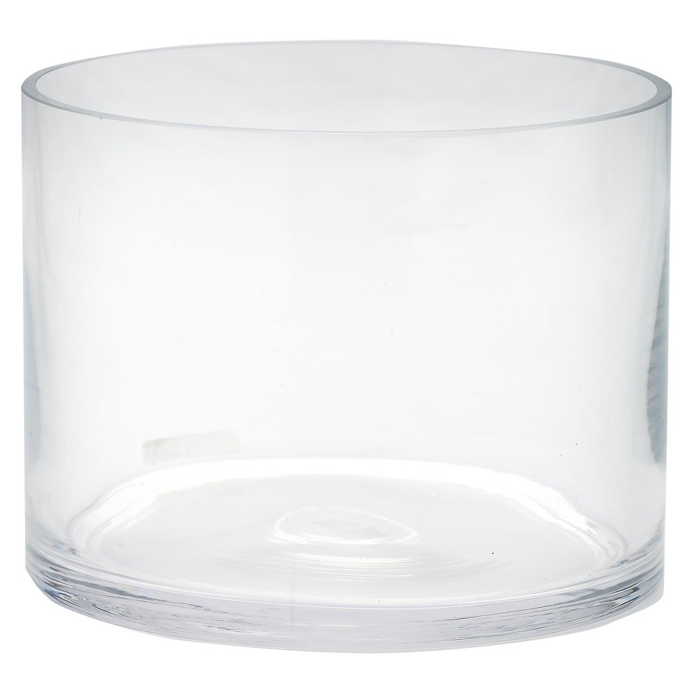 Diamond Star Glass Cylinder Vase Clear 6x6