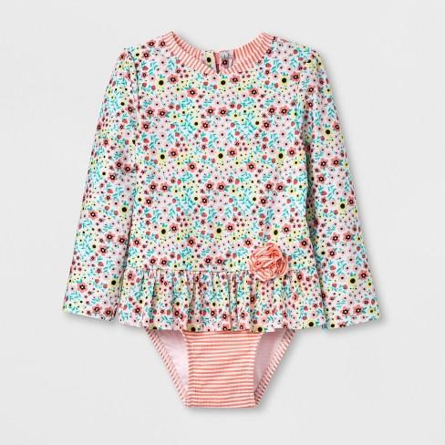 bb830bd21bb Toddler Girls' Zip Rash Guard One Piece Swimsuit - Cat & Jack™ Pink. Shop  all Cat & Jack
