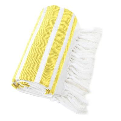 Herringbone Pesetemal Beach Towel Yellow