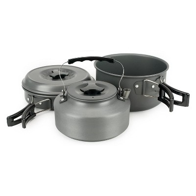 Winterial 11-Piece Non-Stick Portable Cookware and Pot Set for Camping, Backpacking, Hiking, and Trekking