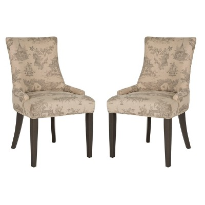 Set of 2 Lester Dining Chair Wood - Safavieh