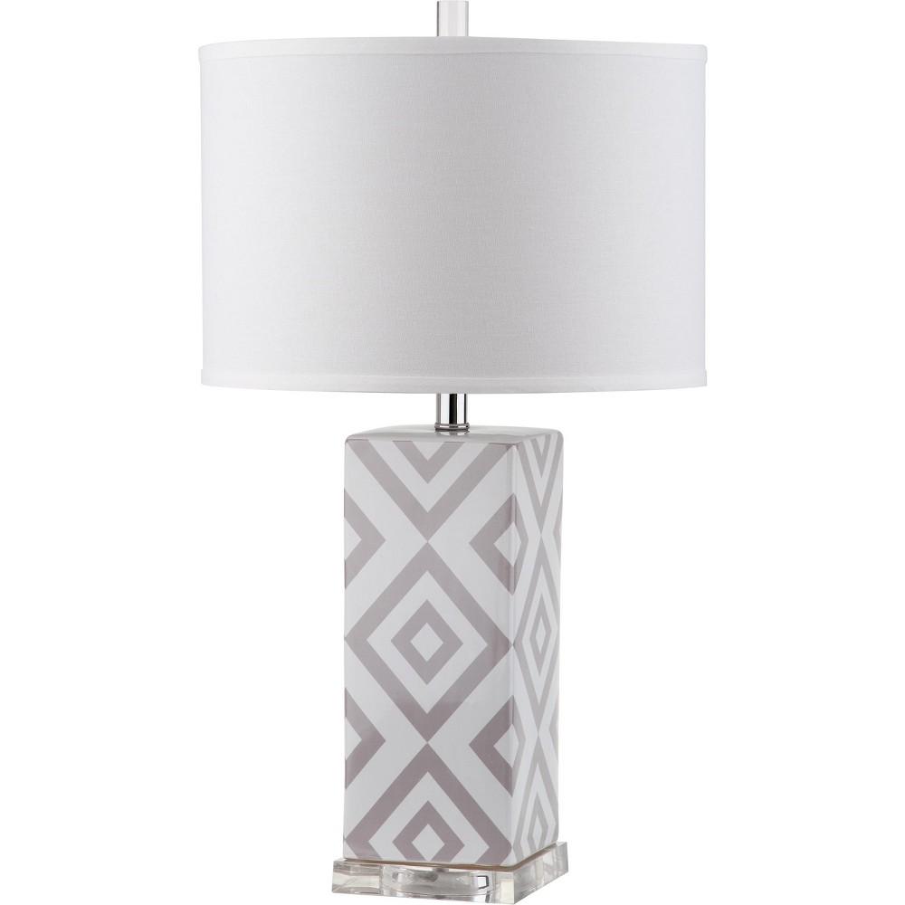 Diamonds 27Inch H Table Lamp Gray - Safavieh