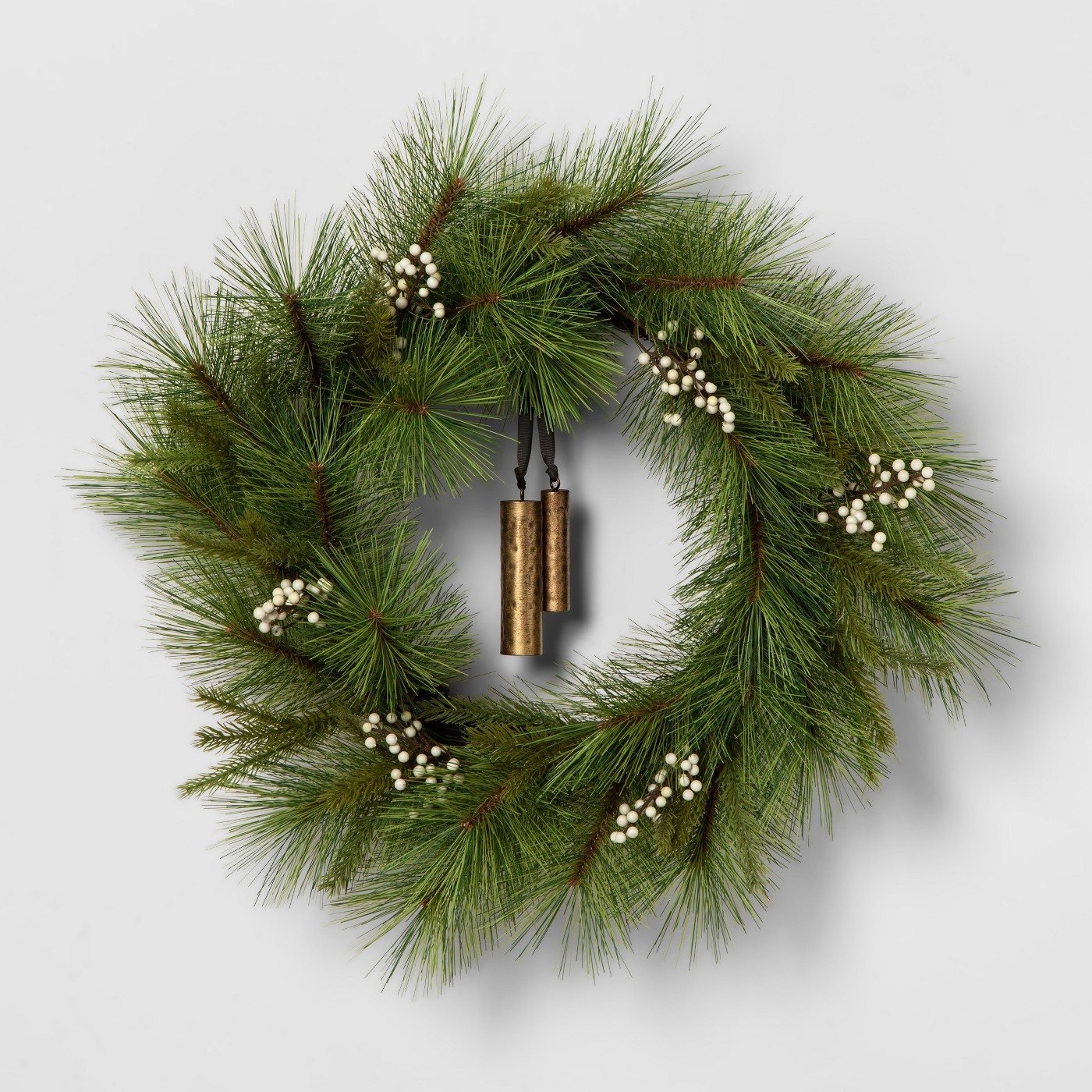 Wreath White Berry Pine Needle with Bell - Hearth & Hand™ with Magnolia - image 1 of 1