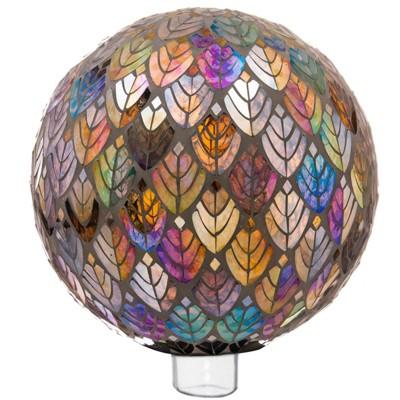 10  H Glass Gazing Ball - Evergreen
