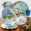 "9"" 6pk Melamine Hydrangea Garden Salad Plates Blue/Purple - Certified International - image 2 of 2"