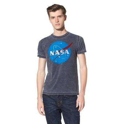 Men's NASA Short Sleeve Graphic T-Shirt Soot Black 2XL