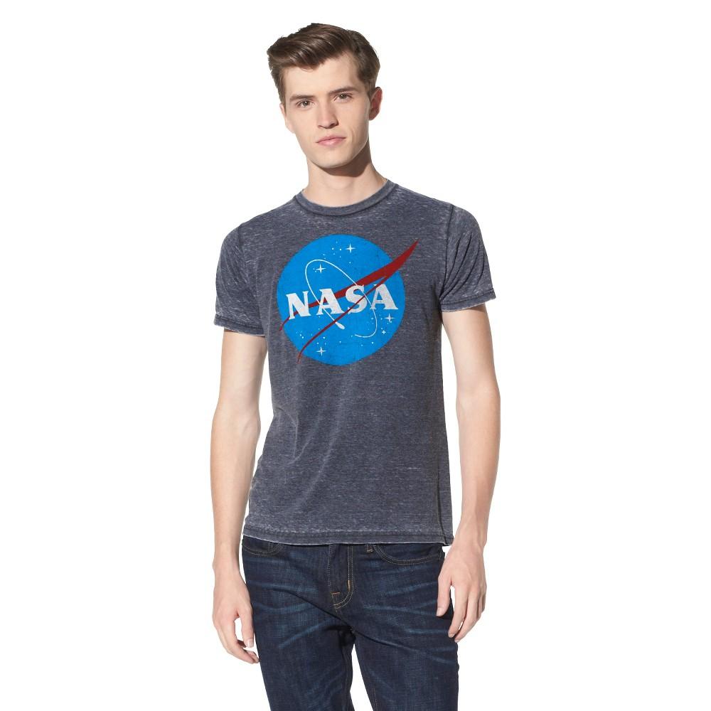Mens NASA Short Sleeve Graphic T-Shirt Soot Black XL Cheap