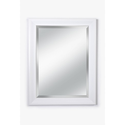 """21"""" x 27"""" Concept White 3.0"""" Wide Framed Beveled Glass Wall Mirror - Alpine Art & Mirror - image 1 of 4"""