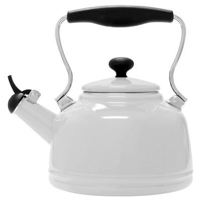Chantal 2 Qt. Vintage Tea Kettle - White