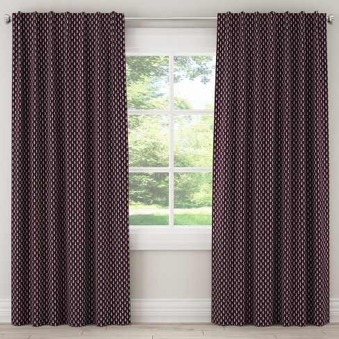 Unlined Curtain Elaine Floral Plum Ground - Skyline Furniture - image 1 of 5