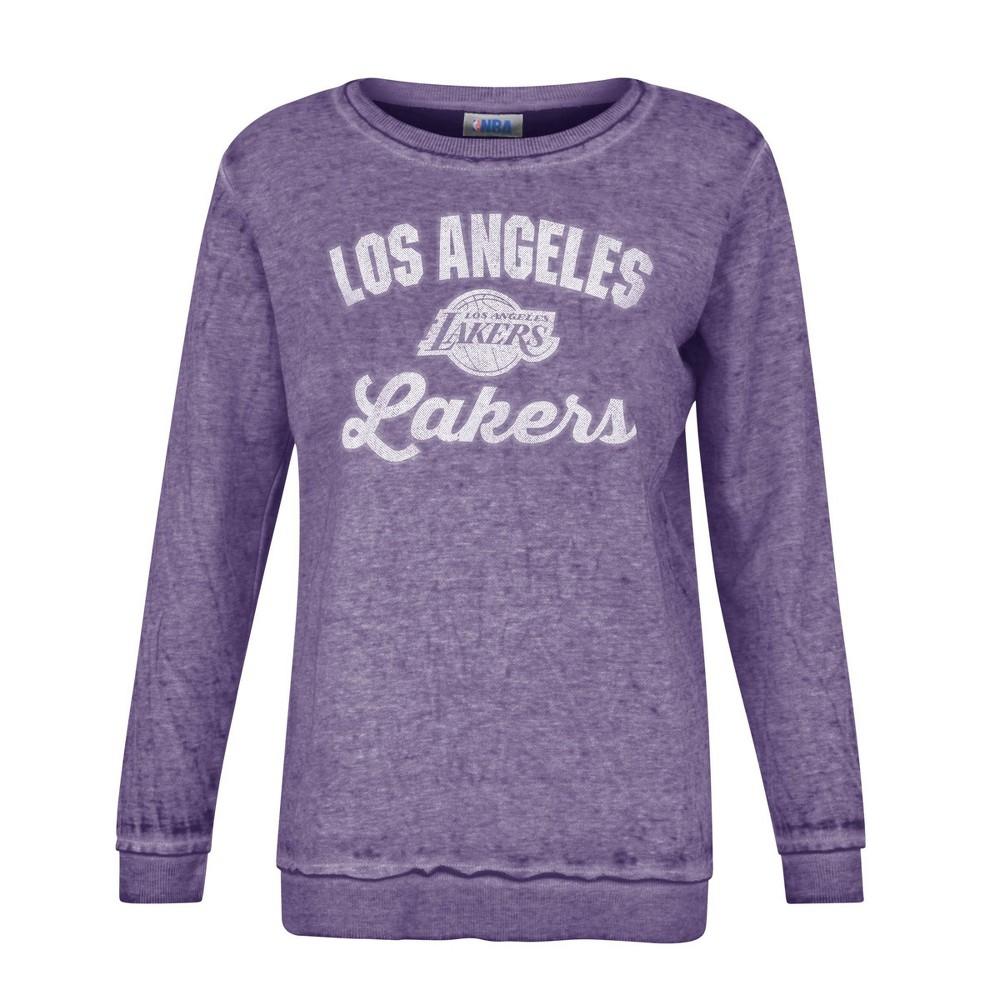 Nba Los Angeles Lakers Women 39 S Distressed Classic Sweatshirt L
