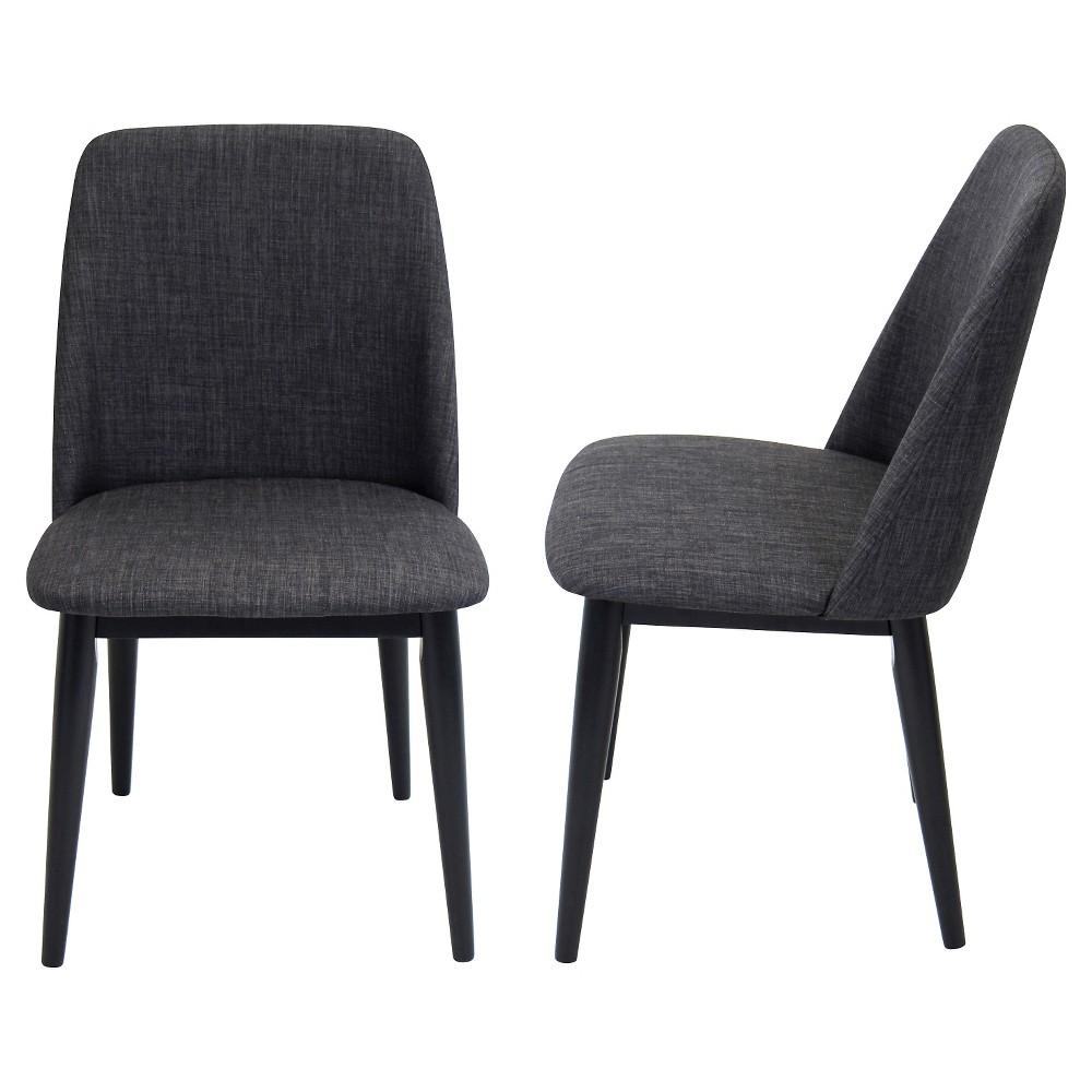 Tintori Mid Century Modern Dining Chair (Set of 2) - LumiSource, Black