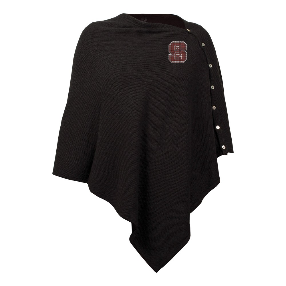 NCAA NC State Wolfpack Little Earth Black Out Button Poncho
