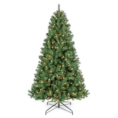 Best Choice Products Pre-Lit Instant No Fluff Artificial Spruce Christmas Tree w/ LED Lights
