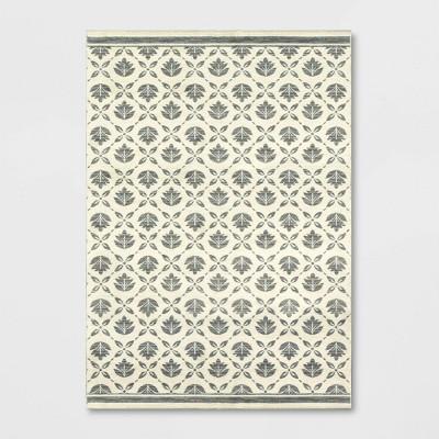 Belwood Block Print Motif Rug Cream - Threshold™