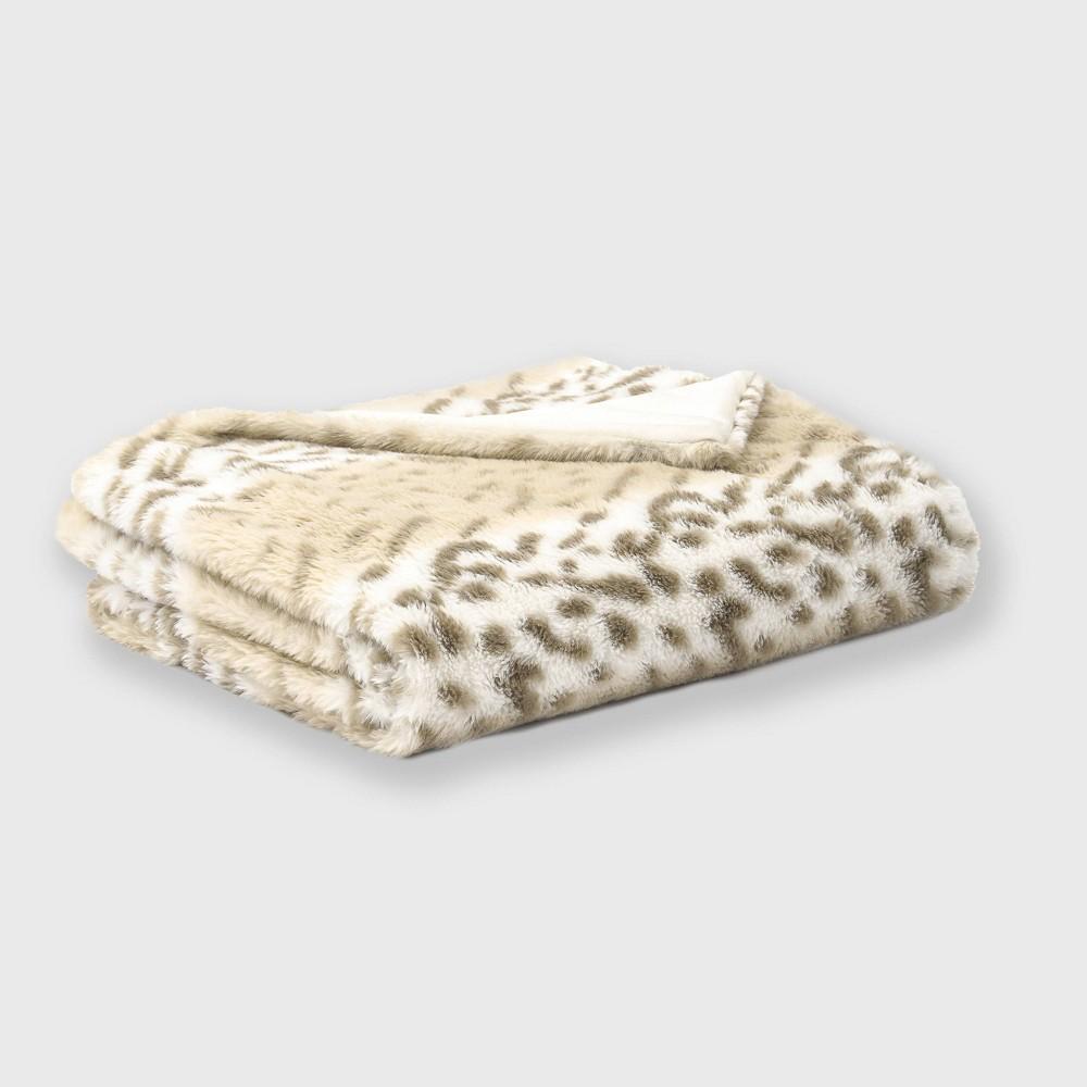 "Promos 60""x50"" Leopard Faux Fur Decorative Throw - Evergrace"