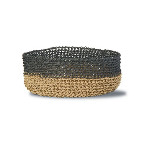 TAG Marley 2-Tone Loop Basket Twisted Woven Loop Paper With Handles For Organization Storage Home Decor - image 1 of 1