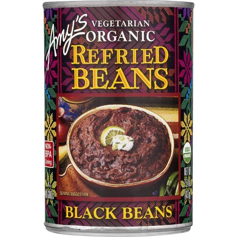 Amy's Vegetarian Organic Refried Black Beans 15.4 oz - image 1 of 4