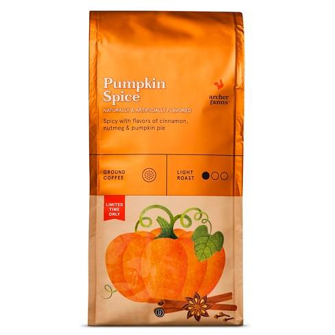 Pumpkin Spice Light Roast Ground Coffee 12oz - Archer Farms™ - image 1 of 3