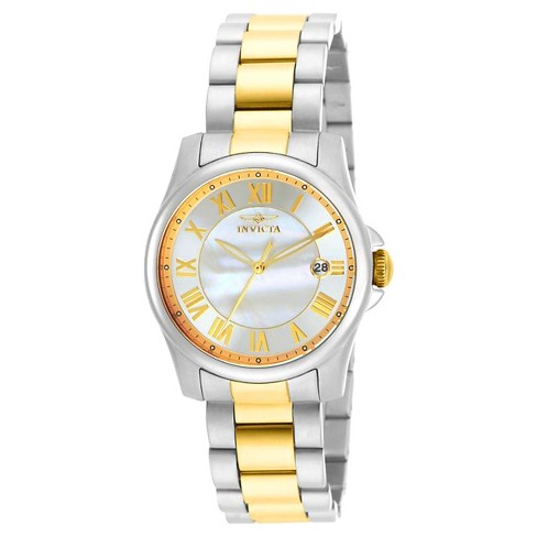 Women's Invicta 15236 Angel Quartz 3 Hand White Dial Link Watch - Two Tone - image 1 of 1