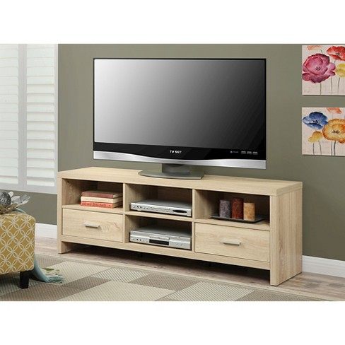 tv stand light brown 60 convenience target - Light Colored Tv Stands