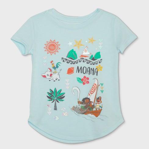 20d160d0 Toddler Girls' Disney Moana Short Sleeve T-Shirt - Ice Blue : Target