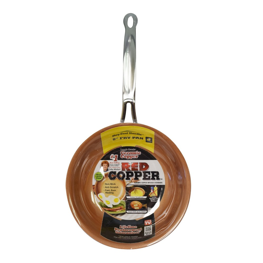 """Image of """"As Seen on TV 8"""""""" Copper Pan Red"""""""
