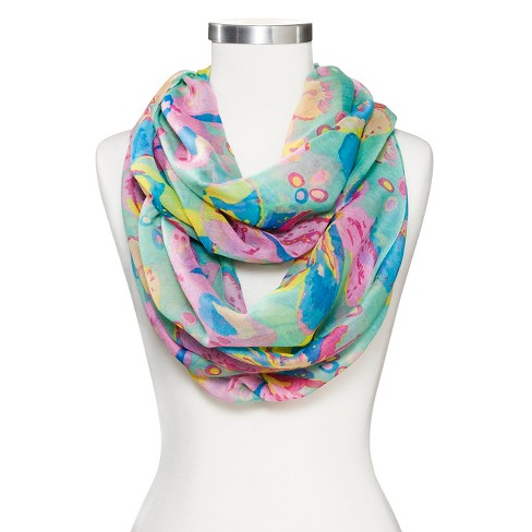 Women's Sylvia Alexander Floral Print Infinity Scarf - image 1 of 2
