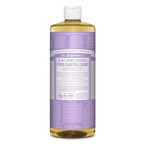Dr. Bronner's 18-In-1 Hemp Pure-Castile Soap - Lavender - 32 fl oz - image 1 of 3