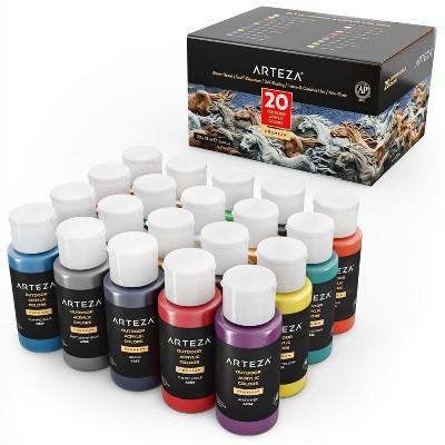 Arteza Outdoor Acrylic Paint Art Supply Set, 59ml Bottles - 20 Piece