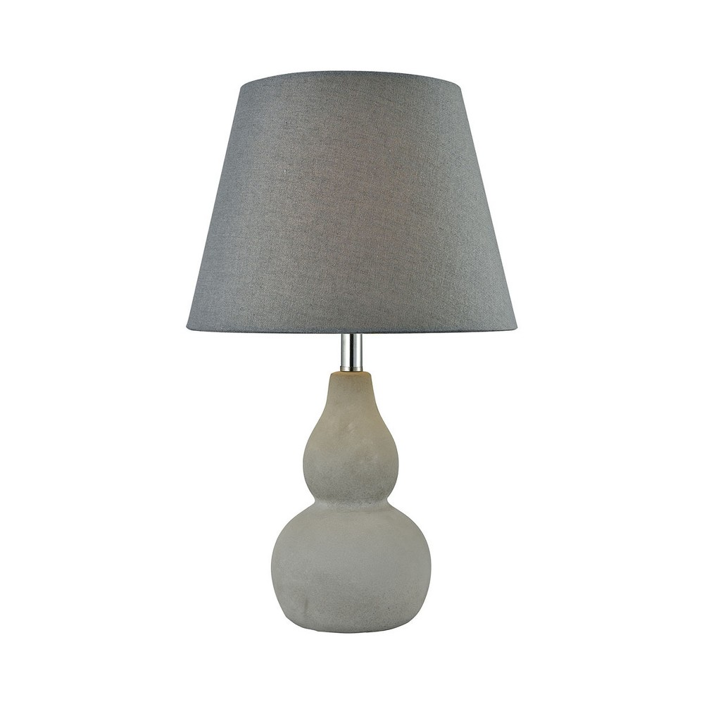 Image of Vego Table Lamp Gray (Includes Energy Efficient Light Bulb) - Pomeroy