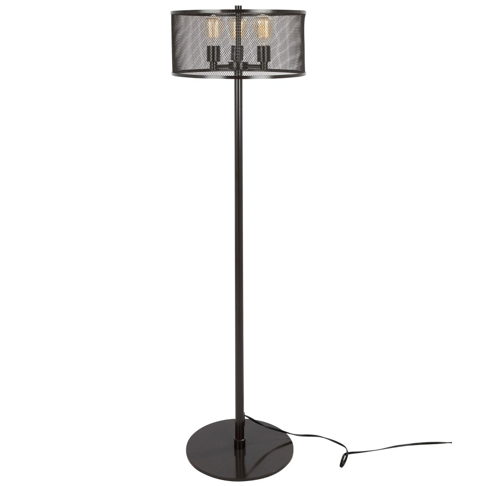 Indy Mesh Industrial Floor Lamp Antique (Lamp Only) - Lumisource, Java Brown