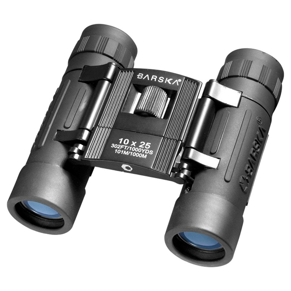 Barska Lucid View 10x25mm Compact Folding Roof BK-7 Prism Binoculars - Black