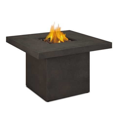 "Ventura 36"" Square Gas Fire Table with Natural Gas Conversion Kit - Brown - Real Flame - image 1 of 6"