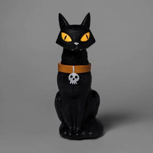 Mischievous Animated Black Cat Decorative Halloween Statue - Hyde & EEK! Boutique™ - image 1 of 2